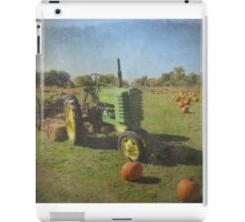 John Deere Tractor Harvest Time Photograph Textured iPad Case/Skin