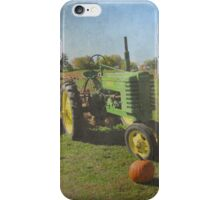 John Deere Tractor Harvest Time Photograph Textured iPhone Case/Skin