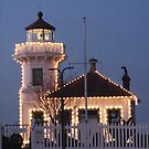 THE LIGHTHOUSE AT MUKILTEO BEACH AT CHRISTMAS TIME by MsLiz