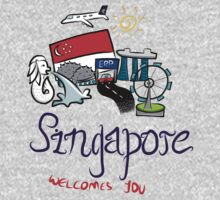 Beautiful Singapore One Piece - Long Sleeve