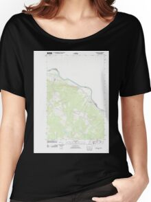 Maine USGS Historical Map Grand Isle 20110831 TM Women's Relaxed Fit T-Shirt