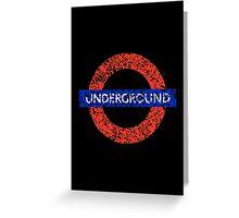Grunge Underground Logo Greeting Card
