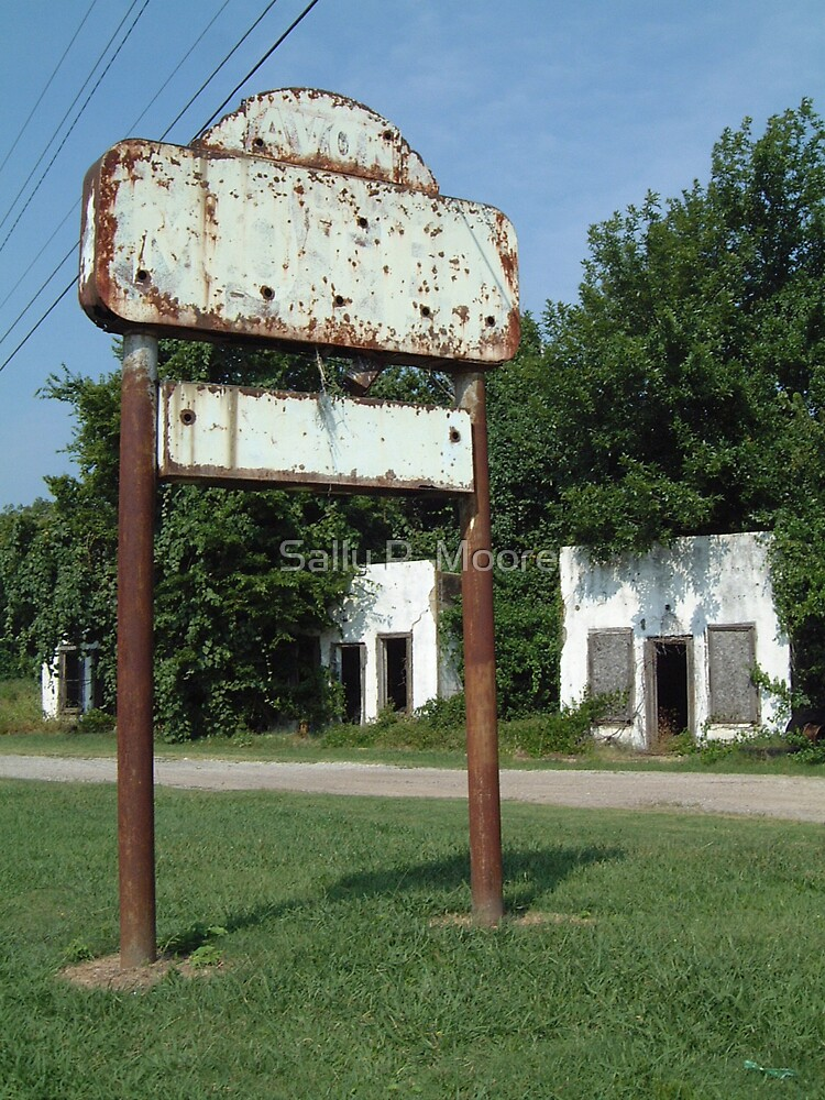 The Avon Motel on Historic Route 66 by Sally P  Moore
