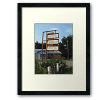The Blue Top Motel  Framed Print