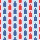 Hot Stuff - water bottle pattern by Syd Winer