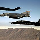 3 Fighters from Holloman AFB by Michael Jeffries