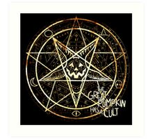 Cult of the Great Pumpkin: Pentagram Art Print