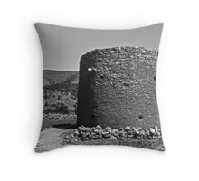 Torreon, Lincoln, New Mexico monochrome Throw Pillow