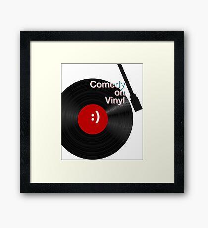 Comedy on Vinyl Framed Print