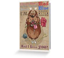 Mabari Valentines Greeting Card