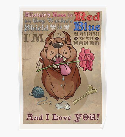 Mabari Valentines Poster