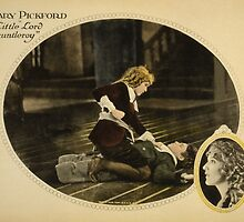 bby card showing Mary Pickford about to punch actor Francis Marion during a scene from the film Little Lord Fauntleroy (1921). by Adam Asar