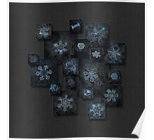 Snowflake collage - Dark crystals 2012-2014 Poster