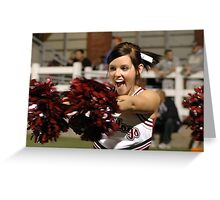 Highschool Cheerleader Greeting Card