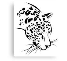 Jaguar head Canvas Print