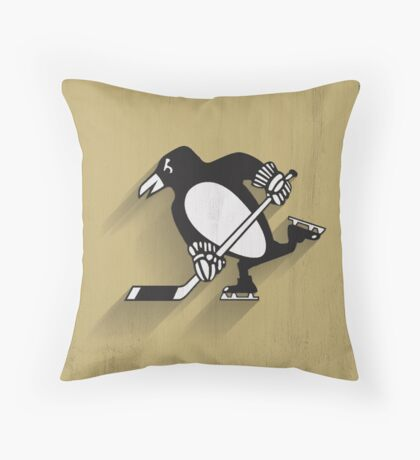 Pittsburgh Penguins Minimalistic Print Throw Pillow