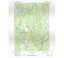 Maine USGS Historical Map Gray 105167 1980 24000 Poster