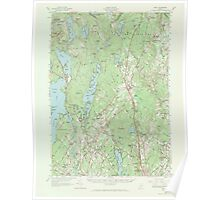 Maine USGS Historical Map Gray 306589 1957 62500 Poster
