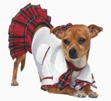 Dog in skirt by Vitalia