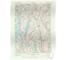 Maine USGS Historical Map Gray 306590 1957 62500 Poster