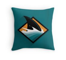 San Jose Sharks Minimalistic Print Throw Pillow