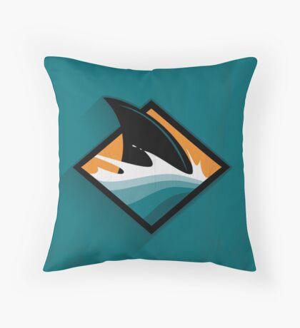 San Jose Sharks Minimalistic Print Throw Pillow