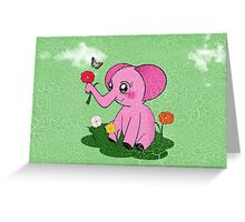Pinky Elephant Greeting Card