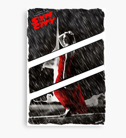 Syn City - My Tribute to Frank Miller's art Canvas Print