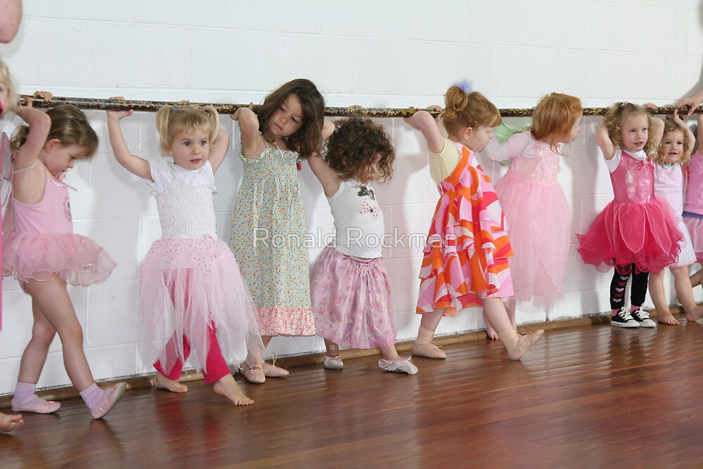 Ballet Bar Girls by Ronald Rockman