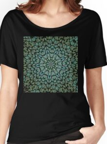 Attractive Peacock Feathers Kaleidoscope Women's Relaxed Fit T-Shirt