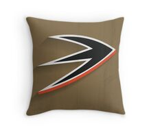 Anaheim Ducks Minimalist Print Throw Pillow