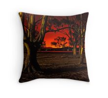Horizon Burning Throw Pillow