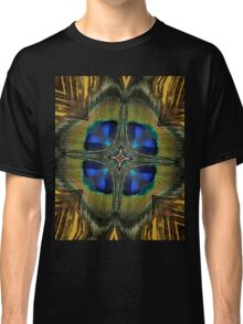 Impressive Peacock Feather Kaleidoscope Classic T-Shirt