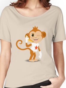Funky Monkey On the Phone Women's Relaxed Fit T-Shirt