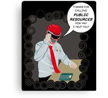 PR:Public Resources Canvas Print