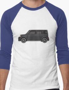 Vectored Boxcar Black Men's Baseball ¾ T-Shirt