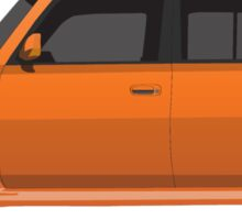 Vectored Boxcar Orange Sticker