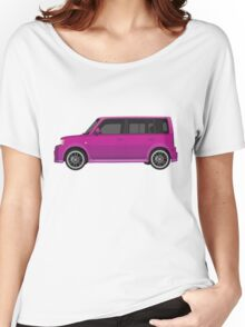 Vectored Boxcar Purple Women's Relaxed Fit T-Shirt