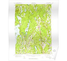 Maine USGS Historical Map Gray 460449 1957 62500 Poster