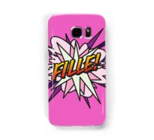Comic Book FILLE! Samsung Galaxy Case/Skin