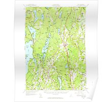 Maine USGS Historical Map Gray 460450 1957 62500 Poster