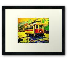 TROLLEY Framed Print