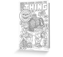 the Thing Greeting Card