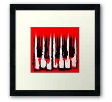 Monochromatic Scale Framed Print