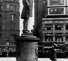 BEFORE THE STATUE OF NATHAN HALE, CITY HALL SQUARE, NEW YORK. A patriot of 1917 by Adam Asar