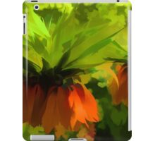 Showy Orange Crown Imperial Flowers - Impressions Of Spring iPad Case/Skin