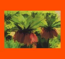 Showy Orange Crown Imperial Flowers - Impressions Of Spring Kids Clothes