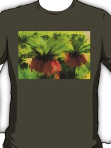 Showy Orange Crown Imperial Flowers - Impressions Of Spring T-Shirt