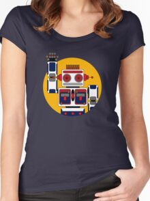 Robot Says Hello Women's Fitted Scoop T-Shirt