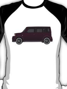 Vectored Boxcar Black Cherry T-Shirt